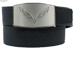 C7 Corvette 2014-2019 Crossed Flags Custom Fit Belt - Finish Options