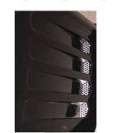 C4 Corvette 1991-1994 Perforated 2pc Side Vent Grilles