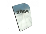 C5 Z06 Corvette 1997-2004 Polished Upper Right Etched Year Hood Insert - Year Options