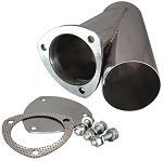 Weld-On QTP Exhaust Cutout Y-Pipe - Size Options