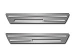 C6 Corvette 2005-2007 2pc Outer Doorsills w/ Chrome Ribs - Brushed