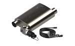 Weld-On Screamer Muffler Short Case w/ Bolt-On QTP Electric Exhaust Cutout - Size Options
