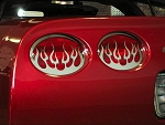 C5 Corvette 1997-2004 Polished 4pc Taillight Grilles - Style Options