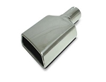 SLP Polished Rolled-Edge Trapezoid Angle Cut 2.53 Inch Inlet Exhaust Tips - Side Options