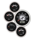 Vintage Black Elite Series Gauge Kit - Kit Option