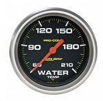 AutoMeter Pro-Comp Electronic Water Temp Gauge, Low Temp, 60-210 deg F, Full Sweep
