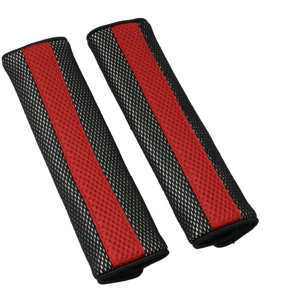 Super 2 Tone Neoprene Nylon Padded Seat Belt Covers Pair Red Unemploymentrelief Wooden Chair Designs For Living Room Unemploymentrelieforg