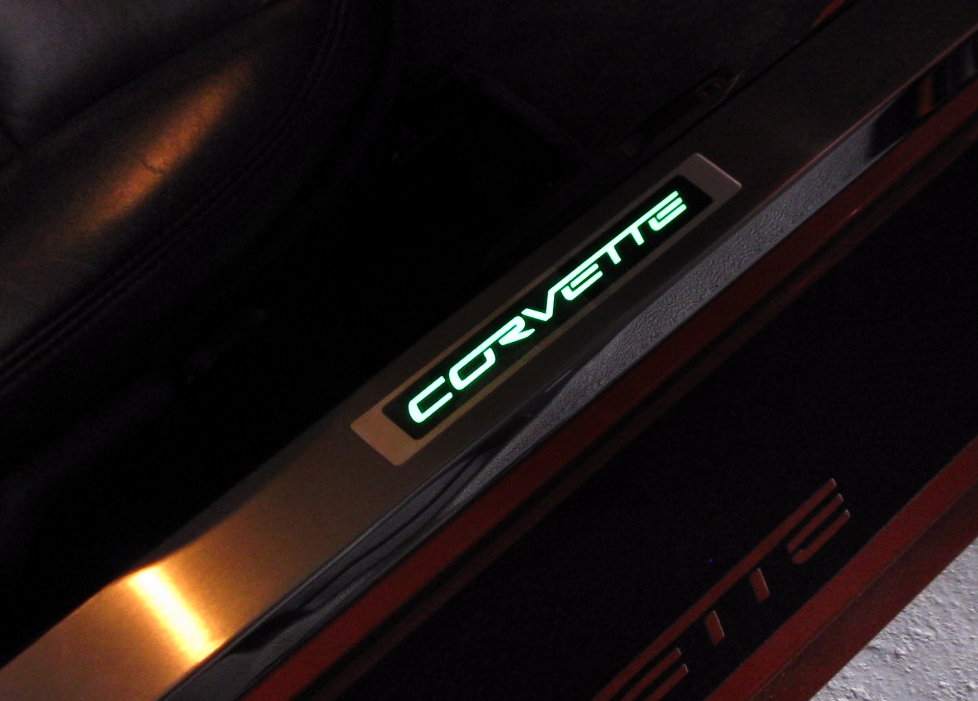 C6 Corvette 2005-2013 Illuminated Lighted Door Sill Guards | Corvette Mods : led door - Pezcame.Com