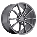 C6 Corvette 2005-2013 60th Cup Anniversary Comp Gray Wheels 18x9.5/19 x12 Set
