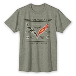C3 C4 C5 C6 C7 Corvette 1968-2014+ Legends T-Shirt - Gray Heather