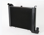 C2 C3 Corvette 1963-1972 DeWitts Direct Fit HP Series 2 Row Radiator w/ Black Ice Coating - Small Block - 1in Tube