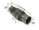 SLP High-Flow Catalytic Converter - 3 Inch Outlet/Inlet - Cell Options