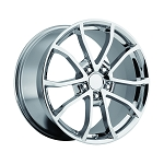 C6 Corvette 2012 CUP Style Chrome Wheel Set - 19x10 / 20x12