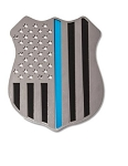 Police Shield 4 Inch Emblem - Finish Selection