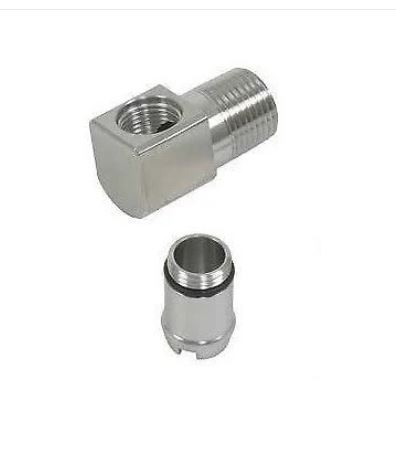Stainless Steel Heater Hose Fittings - 90 Degrees w/ Size