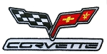 C6 Corvette 2005-2013 Iron-on Embroidered Patch w/ Corvette Script