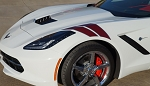 C7 Corvette 2014-2019 Two-Tone Grand Sport Styled Fender Accent Stripes - Color Selection
