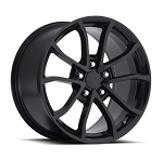 C6 Corvette Base / Z06 / Grand Sport / ZR1 2006-2013 Centennial Cup Style Wheel Set in Gloss / Satin Black 0 19x10 / 19x12