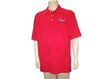 C5 Corvette 1997-2004 Red Polo Shirt w/ C5 Logo - Size Options