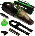 High Power Portable Handheld Rhino Car Vacuum w/ Attachments & Case