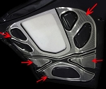 C6 ZR1 Corvette 2009-2012 Perforated 4pc Hood Panel Inserts