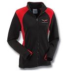 C6 Corvette Ladies Black and Red Bonded Hexport Jacket - Size Options
