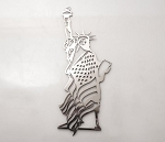 Lady Liberty Statue of Liberty Emblem - Finish Options