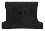 C7 Stingray / Grand Sport / Z06 Corvette 2014-2019 Lloyd Ultimat Black Standard Cargo Area Mat w/ Carbon Flag Emblem & Carbon Script