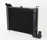 C2 Corvette 1963-1967 LS Direct Fit Aluminum Small Block Radiator - 2 Row / 1in Tube w/ Spal Fan & Wiring - Transmission Selection