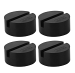 Medium Slotted Rubber Jack Pads - Set of 4