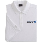 C6 Corvette 2005-2013 Nike Life Begins at 200MPH White Polo Shirt w/ ZR1 Embroidered Logo - Size Options