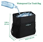 Stash Your Trash - On-The-Go Trash Can w/ Lid & Side Storage Pockets