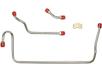 C3 Corvette 1971-1972 Pump to Carb Fuel Line 3pc Kit w/ Brass Tee - LS6/454CID - Material Options