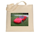 C4 Corvette 1996 Red Convertible Print Tote Bage - Canvas - Earth Friendly