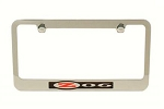 C5 Corvette 1997-2004 Solid Brass Chrome Plated License Plate Frame w/ Z06 Logo