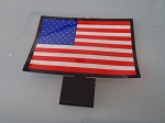 Sound Activated Light-Up American Flag Car Window Decal
