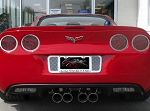C6 Corvette 2005-2013 Laser Mesh 4pc Taillight Grilles - Polished