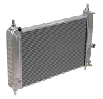 C6 Corvette Z06 / Base 2005-2013 DeWitts Direct Fit Dual Row Radiator w/ Shortened Core for Blower Clearance