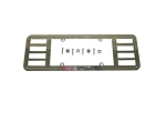 C5 Corvette 2001-2004 Billet Aluminum Chrome Rear License Plate Frame w/ Engraved Z06 Logo