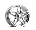 C6 Corvette 2005-2013 Base/Z51 and C7 2014-2019 Stingray C7 ZR1 Style Chrome Wheels - 18x8.5/19x10
