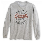 American Made Corvette Original Long Sleeve Tee - Heather Gray