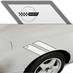 C4 Corvette 1984-1996 Grand Sport-Inspired Fender Accent Stripes - 22 Logo & Trim Color Options