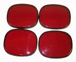 C4 Corvette 1991-1996 Red Bubble Taillight Lens Covers