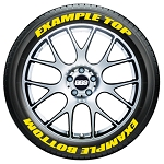 Custom Script Tire Stickers - Front Wheel Kit