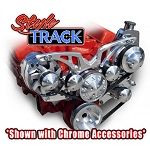 C2 C3 Corvette 1963-1982 Style Track Billet Alternator & Power Steering Accessory Serpentine System - All Inclusive Kit