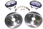 C4 Corvette 1985-1996 Brake Upgrade Kit - C5 Corvette Rotors & Front Brake Calipers