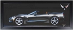 C7 Corvette Stingray 2014+ Convertible Panoramic Framed Wall Art