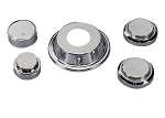 C4 Corvette 1984-1985 & 1988-1989 Chrome Engine Cap & Cover Kit - 5 Piece Kit