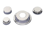 C4 Corvette 1986-1987 Chrome Engine Cover / Cap Kit - 4-Piece Kit