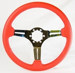 C3 Corvette 1969-1982 Leather & Chrome Steering Wheels - 4 Color Options